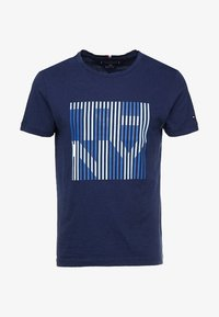 Tommy Hilfiger - STRIPE TEE - Printtipaita - blue - 3