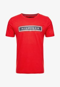 Tommy Hilfiger - CORP FRAME TEE - T-shirt con stampa - red - 4