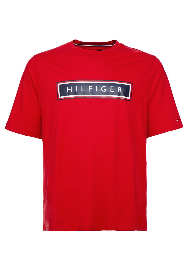Tommy Hilfiger - CORP FRAME TEE - T-Shirt print - red
