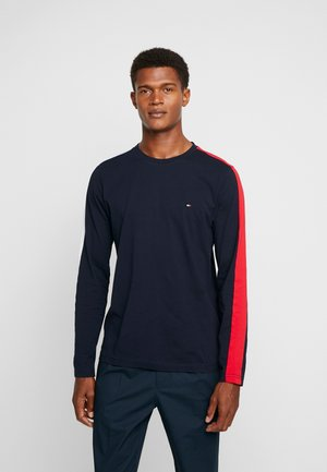 CONTRAST LONG SLEEVE TEE - Long sleeved top - navy