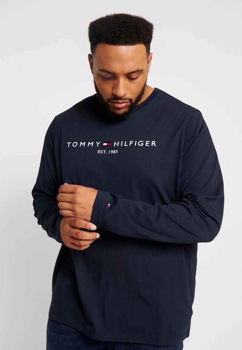 Tommy Hilfiger - LONG SLEEVE LOGO - Langarmshirt - navy