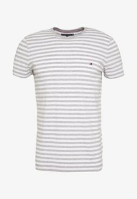 Tommy Hilfiger - STRETCH SLIM FIT TEE - T-shirt con stampa - grey - 4