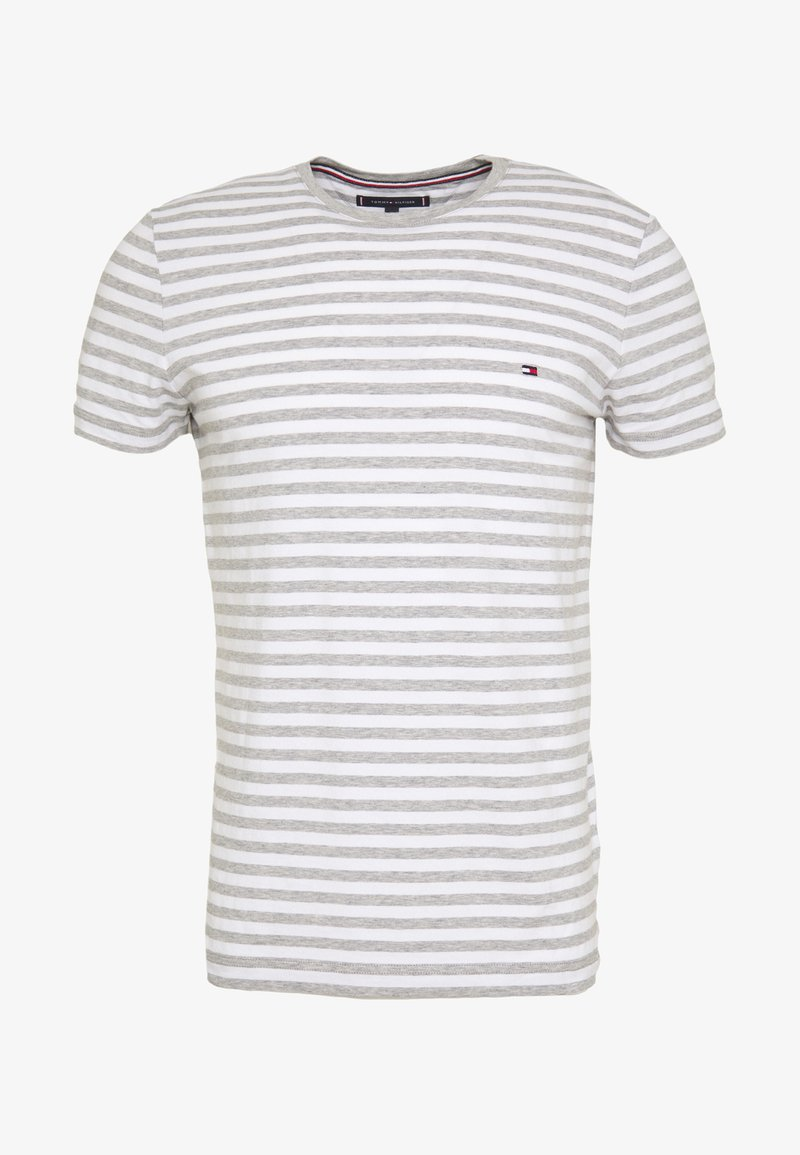 Tommy Hilfiger STRETCH SLIM FIT TEE - T-shirts med print - grey