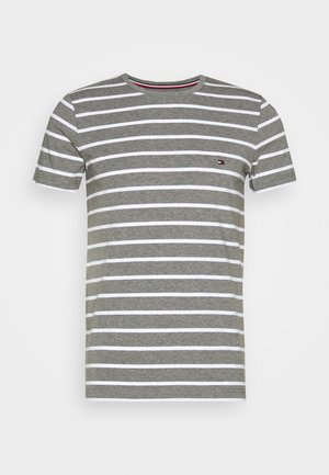 STRETCH SLIM FIT TEE - Print T-shirt - grey