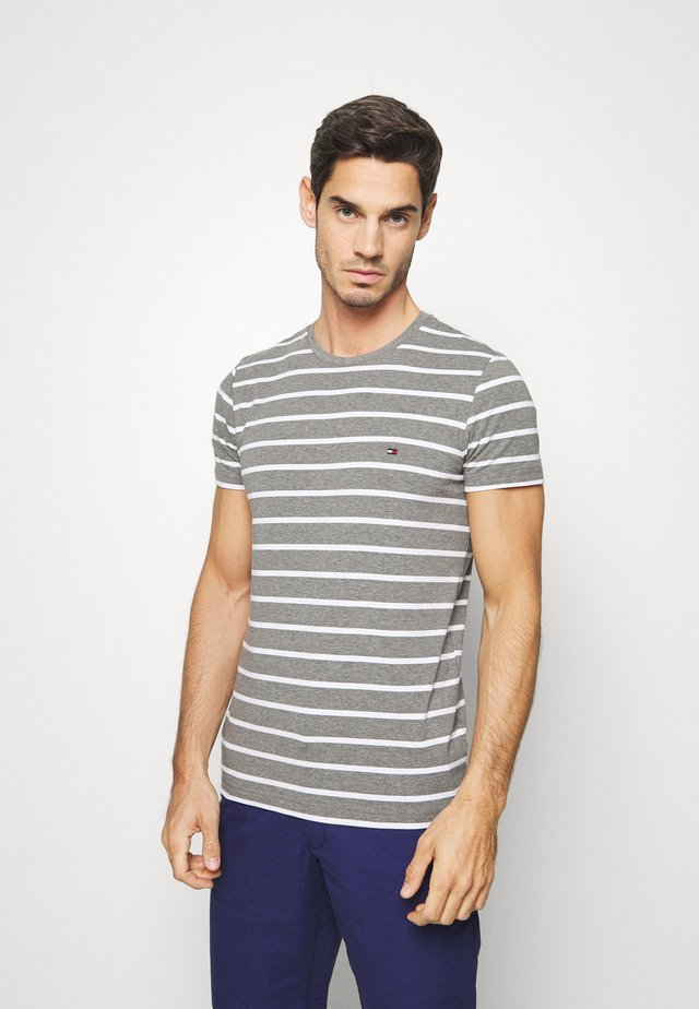 STRETCH SLIM FIT TEE - Camiseta estampada - grey