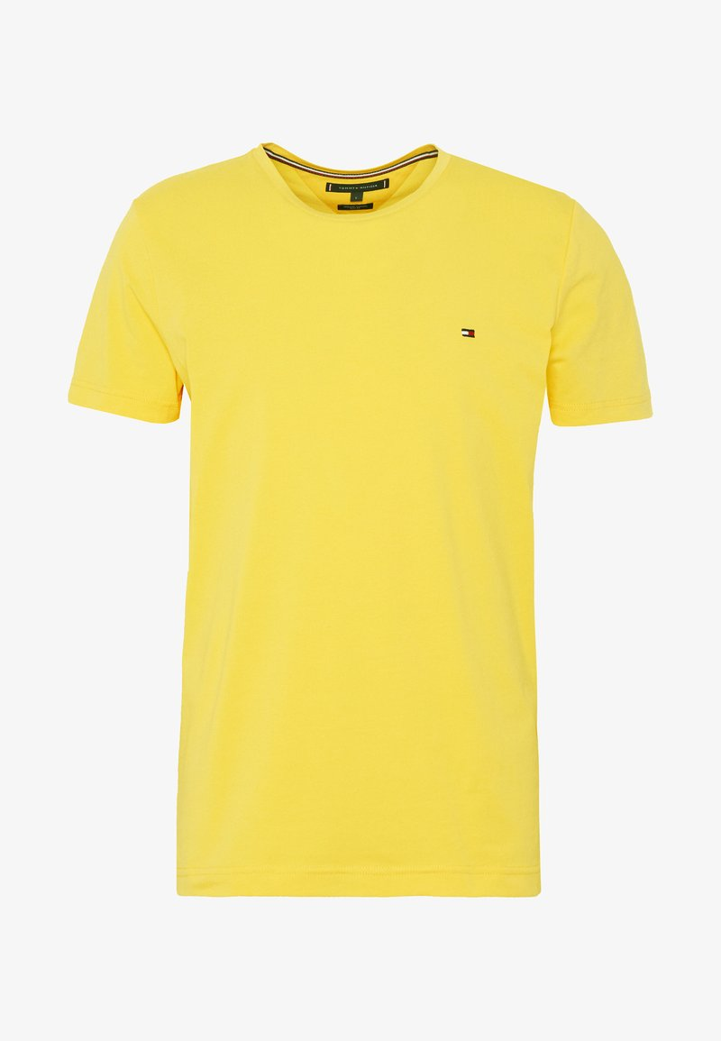 Tommy Hilfiger STRETCH SLIM FIT TEE - T-shirts med print - yellow