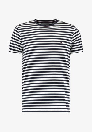STRETCH SLIM FIT TEE - T-shirt con stampa - navy blazer/bright white