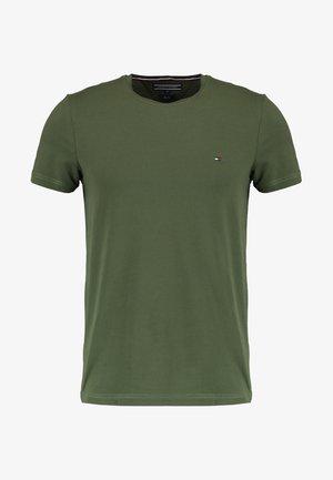 STRETCH SLIM FIT TEE - T-shirt print - green