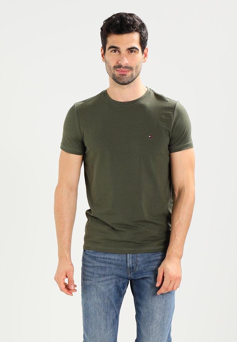 Tommy Hilfiger - STRETCH SLIM FIT TEE - T-shirts print - green
