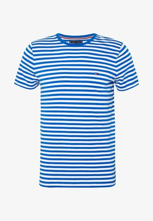 STRETCH SLIM FIT TEE - Camiseta estampada - blue