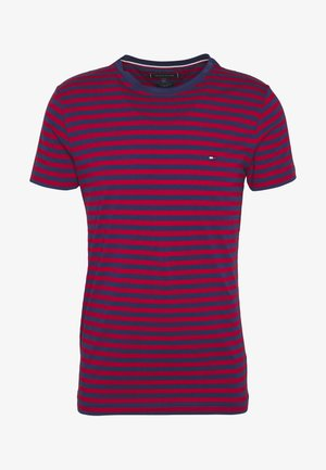 STRETCH SLIM FIT TEE - Printtipaita - red