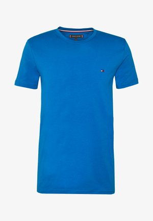 STRETCH SLIM FIT TEE - T-shirt con stampa - blue