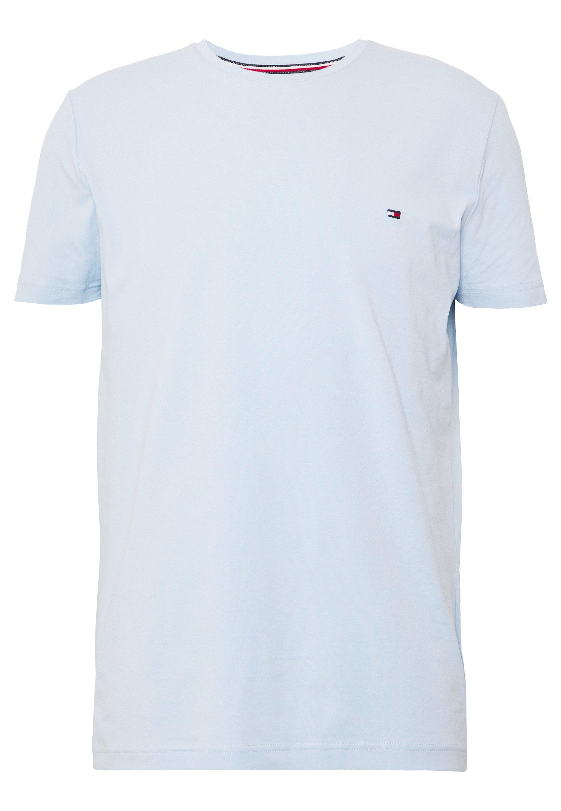 Tommy Hilfiger STRETCH SLIM FIT TEE - Camiseta estampada - blue