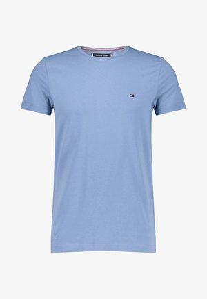 STRETCH SLIM FIT TEE - T-shirt z nadrukiem - stoned blue