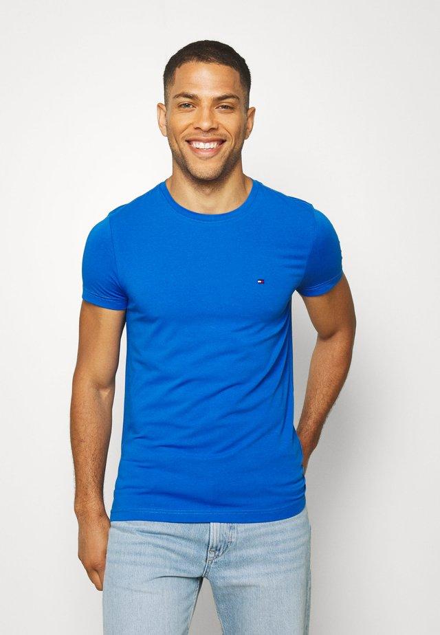 STRETCH SLIM FIT TEE - T-shirt print - blue