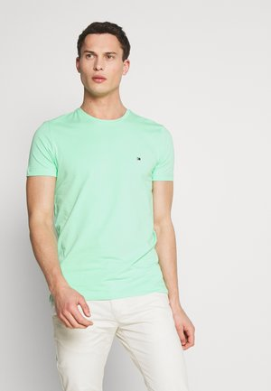 STRETCH SLIM FIT TEE - Print T-shirt - green
