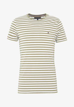 STRETCH SLIM FIT TEE - T-shirt imprimé - green