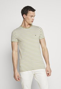Tommy Hilfiger - STRETCH SLIM FIT TEE - T-shirt print - green - 0