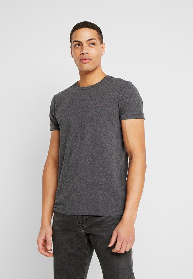STRETCH SLIM FIT TEE - Print T-shirt - grey