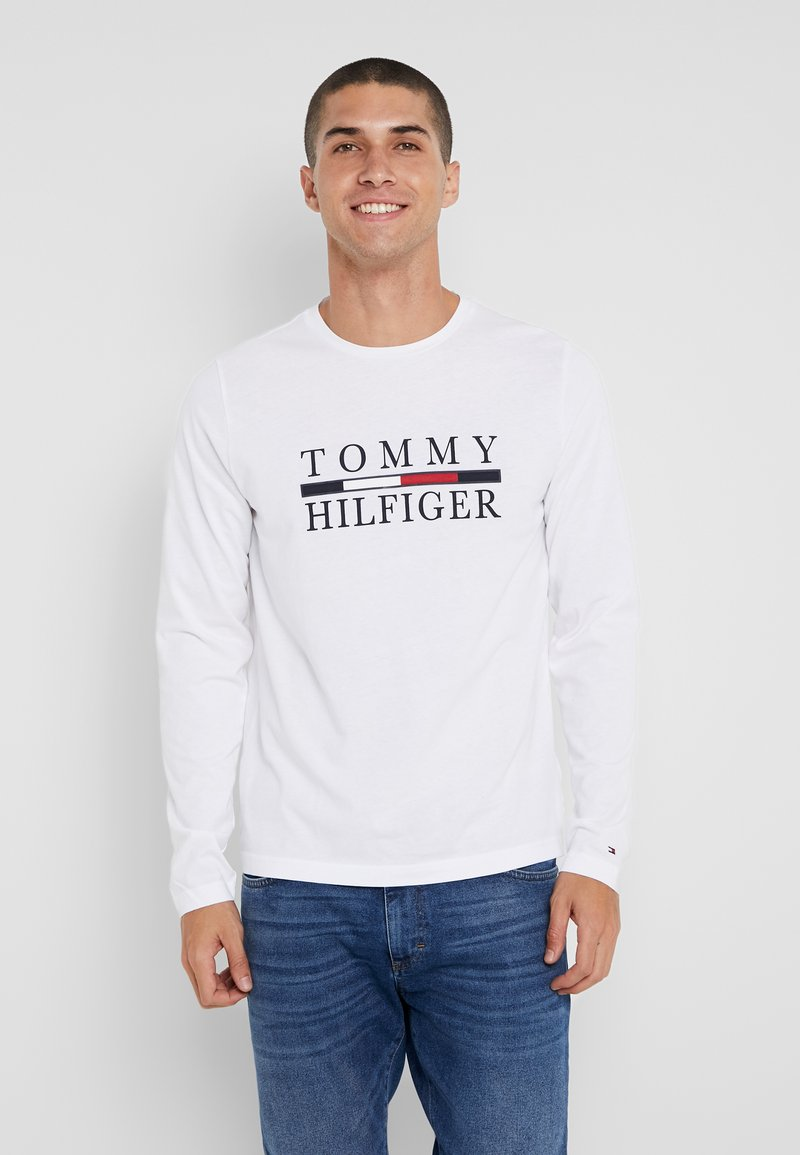 Tommy Hilfiger - LONG SLEEVE TEE - Maglietta a manica lunga - white