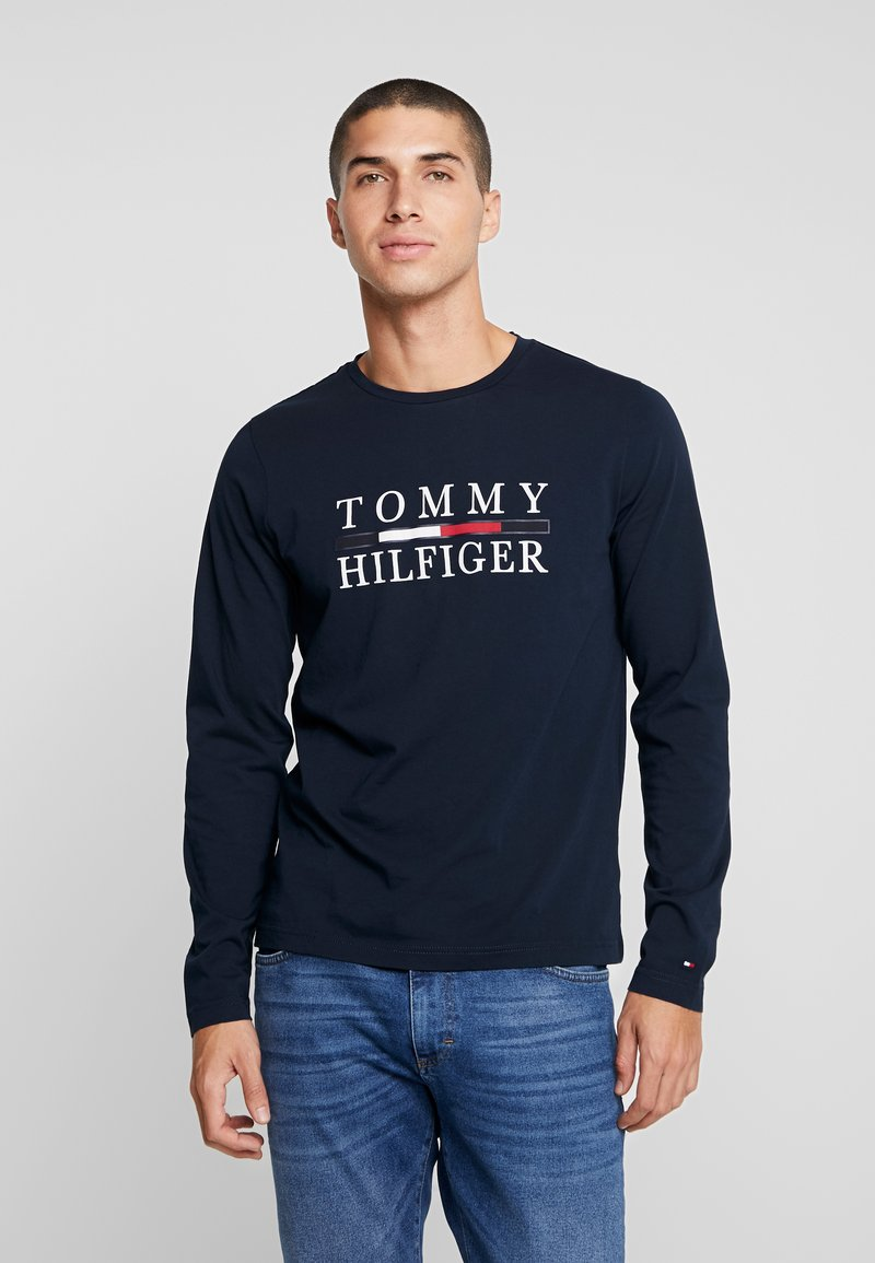 Tommy Hilfiger - LONG SLEEVE TEE - Camiseta de manga larga - blue