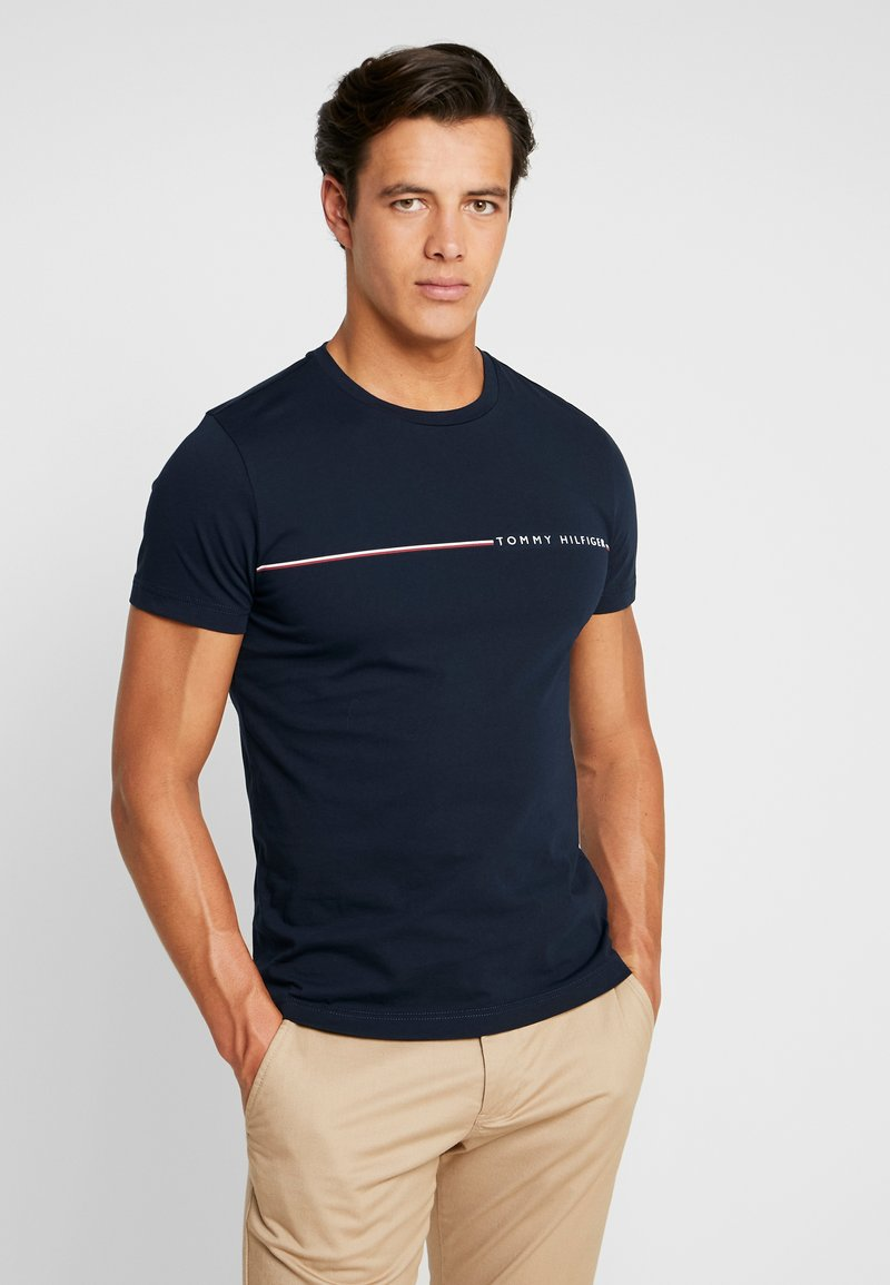 Tommy Hilfiger - TEE - T-shirts med print - blue