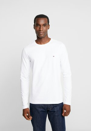 STRETCH SLIM FIT LONG SLEEVE - Long sleeved top - white