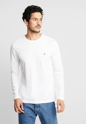 STRETCH SLIM FIT LONG SLEEVE - Topper langermet - white