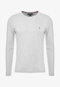 Tommy Hilfiger - STRETCH SLIM FIT LONG SLEEVE - Long sleeved top - grey - 4