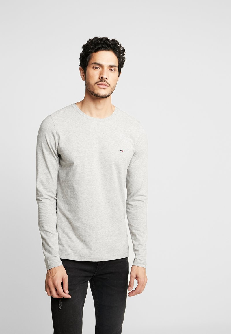 Tommy Hilfiger - STRETCH SLIM FIT LONG SLEEVE - Long sleeved top - grey