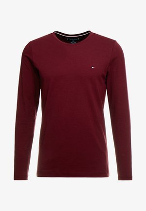 STRETCH SLIM FIT LONG SLEEVE - Long sleeved top - bordeaux