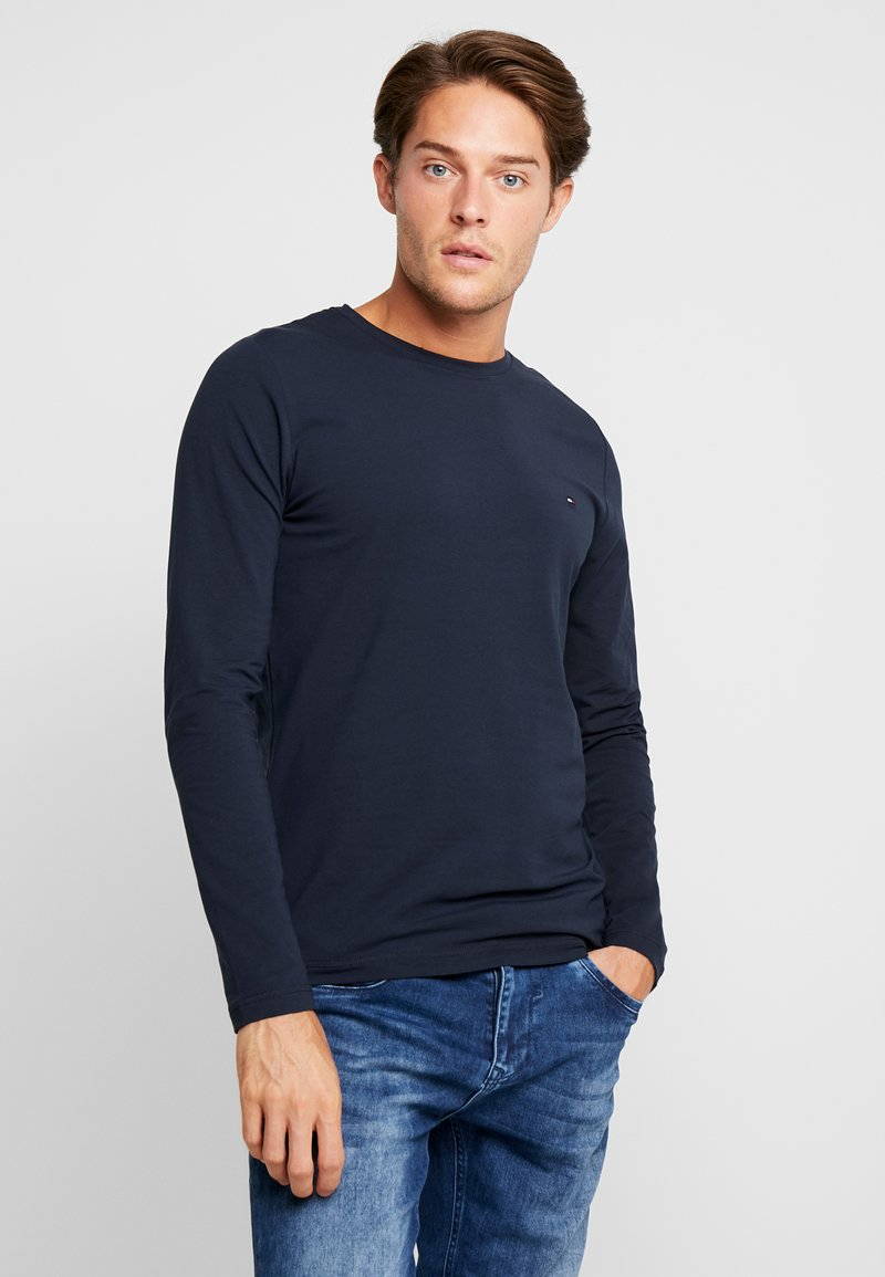 Tommy Hilfiger - STRETCH SLIM FIT LONG SLEEVE - Camiseta de manga larga - blue