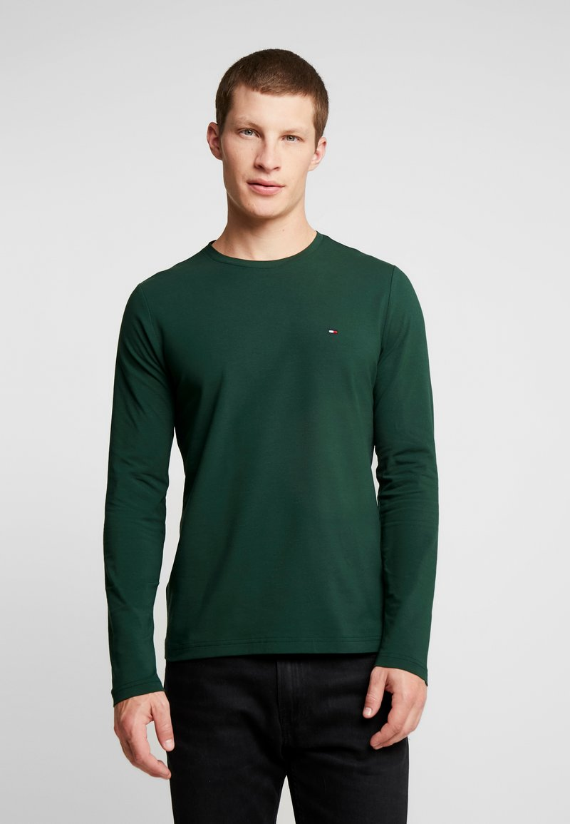 Tommy Hilfiger - STRETCH SLIM FIT LONG SLEEVE - Long sleeved top - green