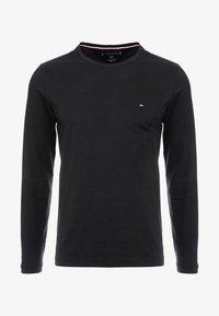 Tommy Hilfiger - STRETCH SLIM FIT LONG SLEEVE - Langærmede T-shirts - black - 3