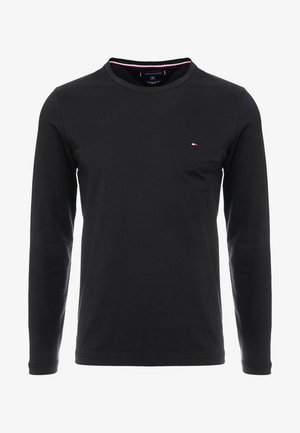 STRETCH SLIM FIT LONG SLEEVE - Top s dlouhým rukávem - black