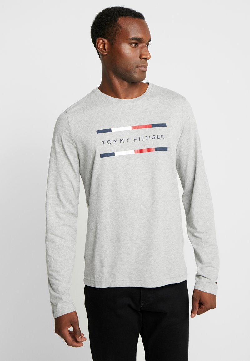 Tommy Hilfiger - CORP LONG TEE - Long sleeved top - grey