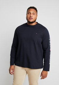 Tommy Hilfiger - LOGO LONG SLEEVE TEE - Topper langermet - blue - 0