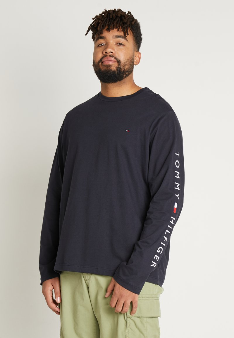 Tommy Hilfiger - LOGO LONG SLEEVE TEE - Long sleeved top - blue