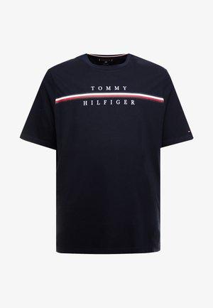 CORP SPLIT TEE - T-shirt med print - blue