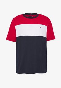 Tommy Hilfiger - COLOUR BLOCK TEE - Print T-shirt - red - 3