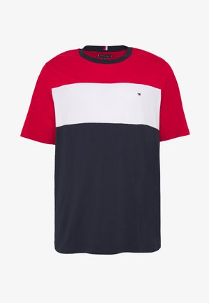 COLOUR BLOCK TEE - T-shirts med print - red