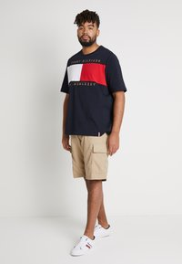 Tommy Hilfiger - FLAG CHEST EMBRDRY TEE - Print T-shirt - blue - 1