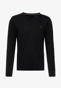 Tommy Hilfiger - LOGO LONG SLEEVE TEE - Topper langermet - black - 4