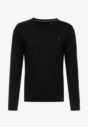 LOGO LONG SLEEVE TEE - Long sleeved top - black