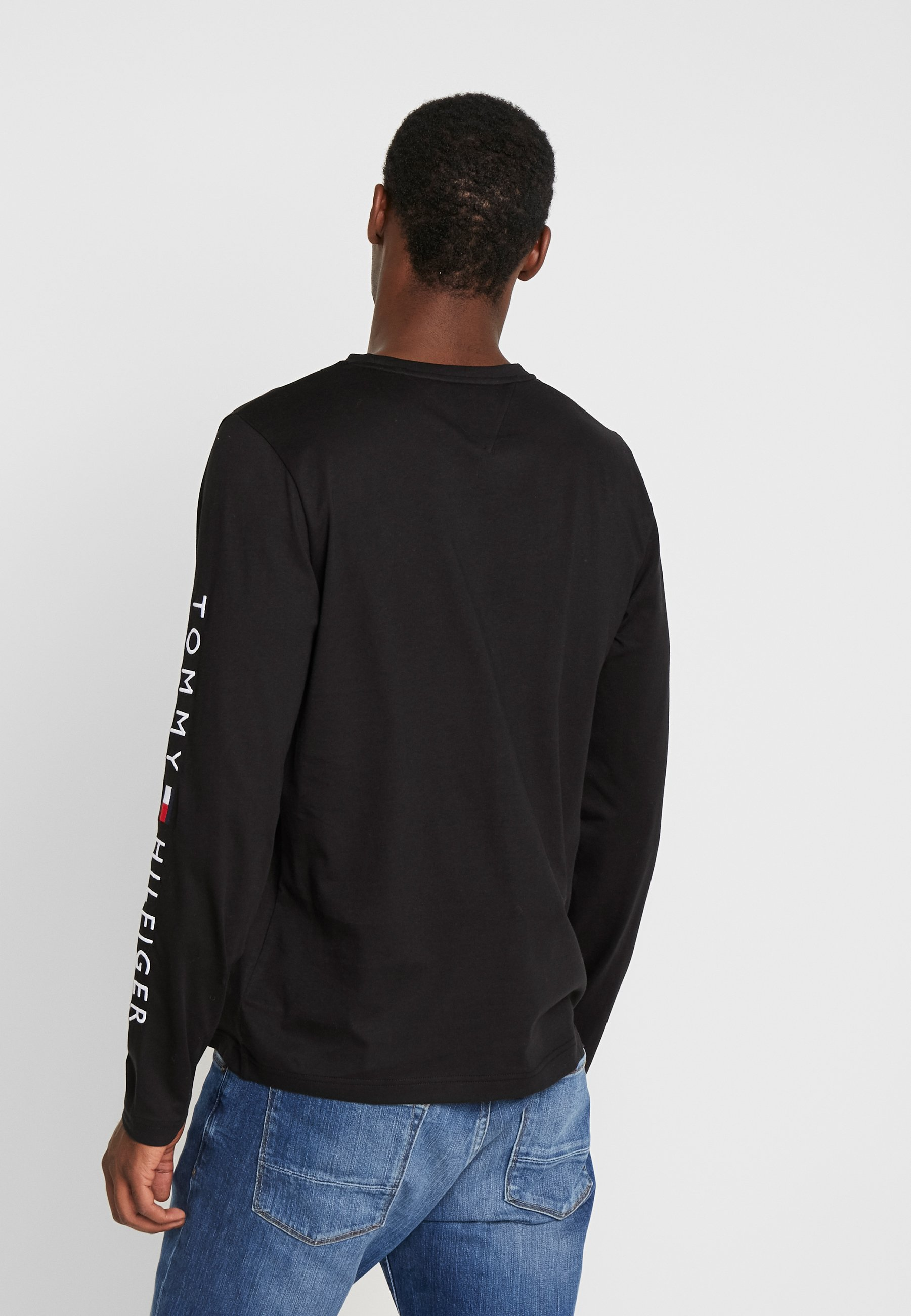 Tommy Hilfiger LOGO LONG SLEEVE TEE - Maglietta a manica lunga - black