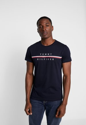 CORP SPLIT TEE - T-Shirt print - blue