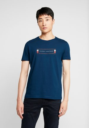 BOX LOGO TEE - T-shirts print - blue