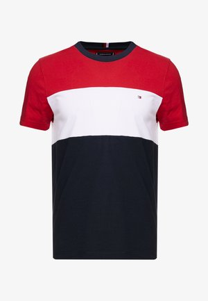 COLOUR BLOCK TEE - T-shirt con stampa - red
