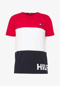 Tommy Hilfiger - BRANDED COLORBLOCK - Print T-shirt - red - 4