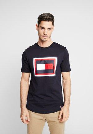 FRAME RELAXED FIT TEE - T-shirt imprimé - blue